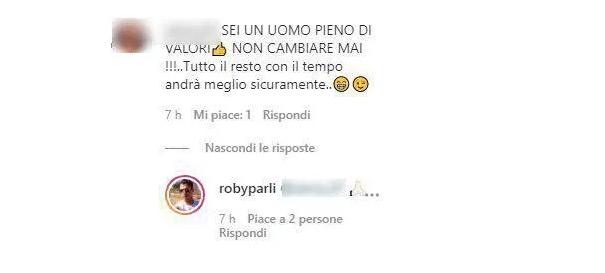 Commento di Roberto Parli su Instagram