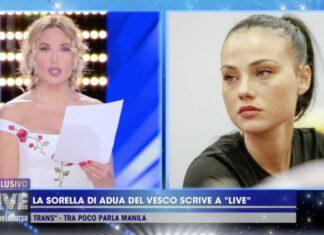 La sorella di Adua Del Vesco su AresGate