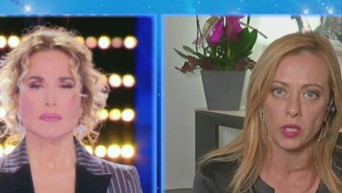 Barbara D'Urso e Giorgia Meloni