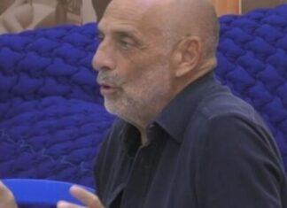 Paolo Brosio squalifica al GF Vip