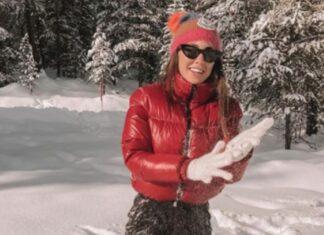 Giulia De Lellis Capodanno sulla neve