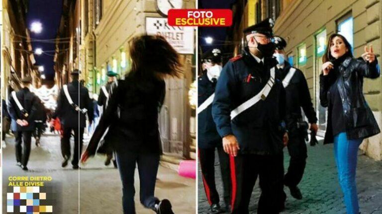Belen Rodriguez, lite in pubblico: intervengono i carabinieri (FOTO)