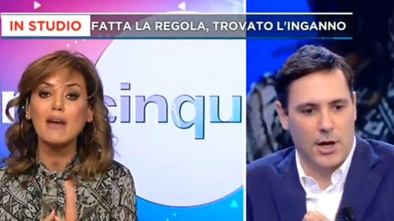 """Francesco Vecchi sbotta contro Daniela Martani a Mattino 5: """"Cosa stai dicendo! Ripigliati!"""" (VIDEO)"""