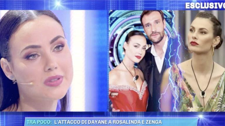 """Rosalinda Cannavò replica alle critiche di Dayane Mello: """"Lei è influenzata da qualcuno"""" (VIDEO)"""