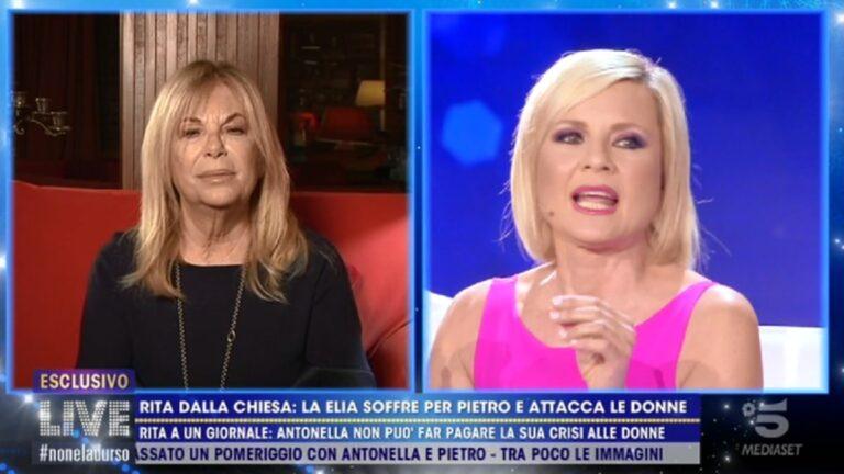 """Rita Dalla Chiesa mette in guardia Antonella Elia: """"Pietro non è adatto a te, non ti rovinare"""""""