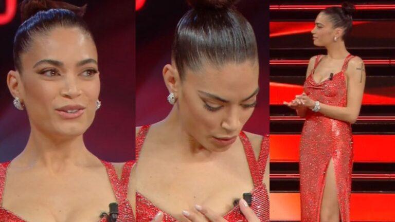 Sanremo 2021: Elodie perde l'orecchino sulle scale, quanto costava? Scene di panico in diretta (VIDEO)