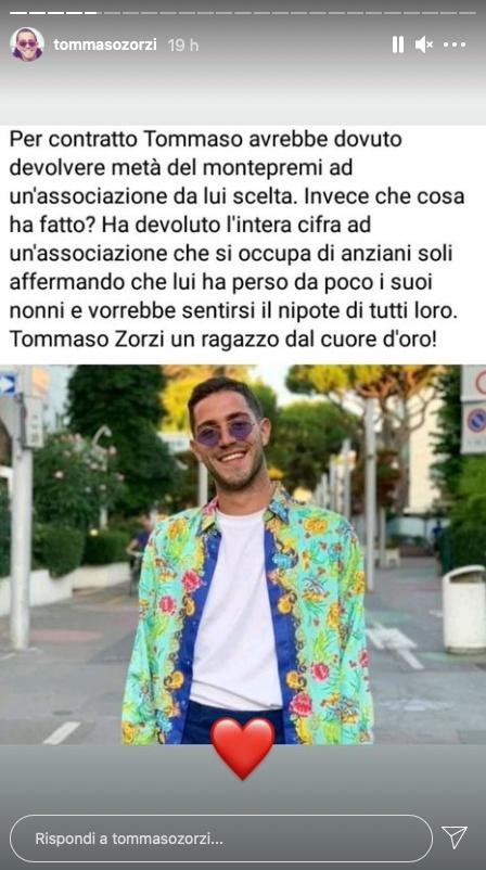 Storia IG di Tommaso Zorzi