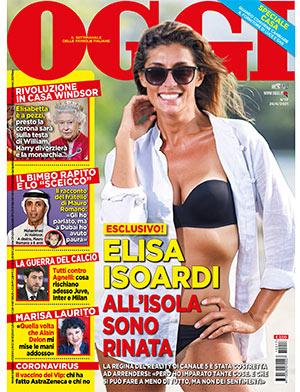 Elisa Isoardi nella copertina di Oggi