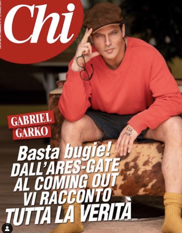 Gabriel Garko e la copertina di Chi