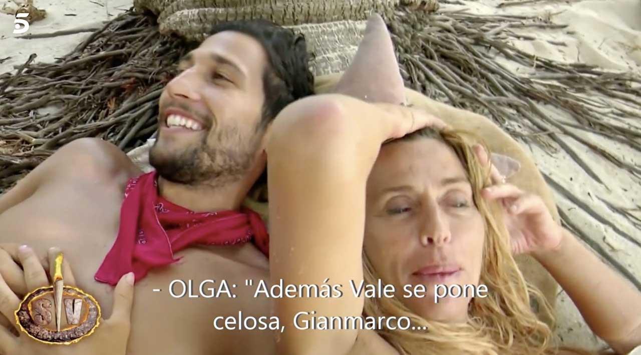 Gianmarco Onestini e Valeria Marini a Supervivientes