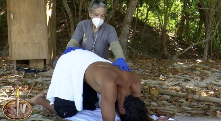 A Gianmarco Onestini viene fatto un clistere a Supervivientes, le immagini scatenano una polemica