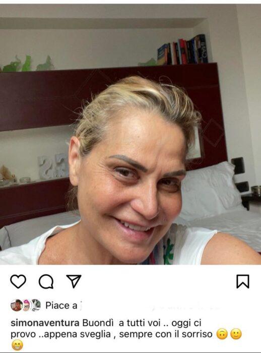 Selfie di Simona Ventura