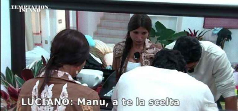 """Anticipazioni 4a puntata di Temptation Island, Manuela al bivio: Luciano """"scegli"""""""