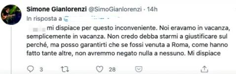 Risposta di Simone Gianlorenzi