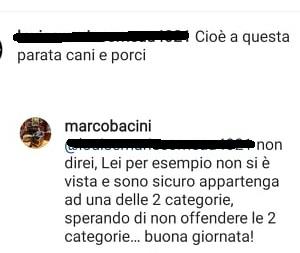 Replica di Marco Bacini
