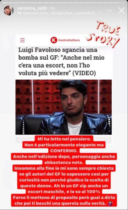 Storia IG di Veronica Satti